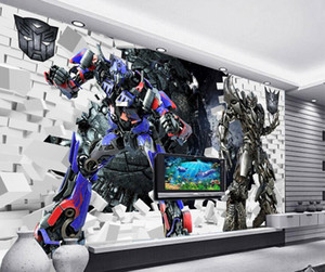 Alta qualità Costom Transformers 3D stereoscopico creativo murale 3d 3D Wallpaper carta da parati per la tv sullo sfondo
