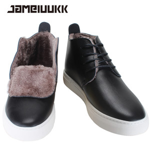 botas de pele morno pele homens botas moda inverno homens confortáveis 2016 add Atacado-, ankle boots qualidade botas de neve homens sapatos