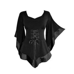 Großhandels- 2017 Aakar shan Frauen Traditionelles Kleid Puls Größen-Frauen-Art- und Weisetunika-lange gotische Punk-Hip Hop-Kleidung lädt neue Minikleider auf