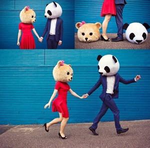 Новое поступление аксессуар панда плюшевый мишка головы костюм талисмана мультфильм для любовника