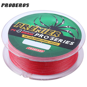 PROBEROS 100 M Durable Coloré PE 4 Brins Monofilament Ligne De Pêche Tressée Pêche Accessoire De Pêche Outil Accessoires + B