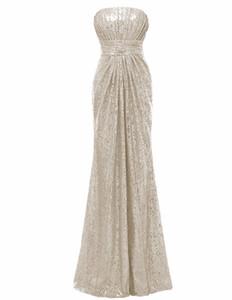 Solovedress Off the Shoulder Mermaid Sequined Elegant Strapless Bridesmaid Dress 2017 Real Formal vestido de dama de honra B0063