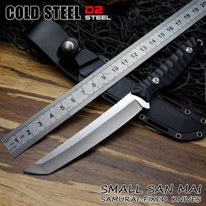 Couteau de chasse en acier froid Sabre de samouraï lame D2 avec lame fixe et couteau lanière gaine tactique gant Couteaux de survie en plein air