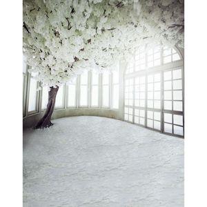 5x7ft الفينيل الزفاف الرقمية المشهد داخلي الأبيض زهرة الرومانسية التصوير استوديو خلفية خلفية