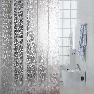 3D Prägung PVC Transparent Duschvorhänge Kopfsteinpflaster Mosaik Muster Bad Vorhang Einfache Wasserdichte Einfarbig Duschvorhang mit Haken