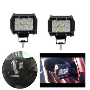 "4"" 18W CREE LED Work Light Bar внедорожник ATV 4WD 4x4 UTE Пятно Flood лампа 12V 6LED 1800lm IP68 OffRoad Вождение мотоцикла лампы"