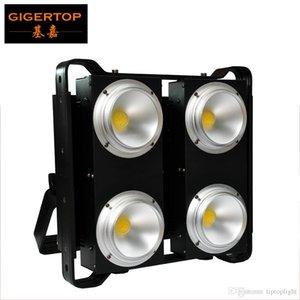 TIPTOP cuatro ojos calienta el blanco / blanco frío / caliente + fría 2en1 4 COB LED de escenario Blinder audiencia Luz ángulo ajustable Proyecto + Sensor de temperatura
