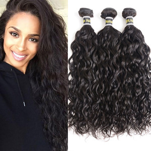 Brazilian Human Hair Water Wave Bundles 100% Unprocessed Brazilian Virgin Hair Water Wave 3 Bundles Natural Color Hot Sale