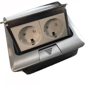 European floor socket with press made of aluminum or copper Silver Yellow RU warehouse for ground with bottom box