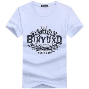 PAMUK tee gömlek kısa kollu erkek t-shirt baskı rahat erkekler tshirt özel özel baskı erkekler t gömlek