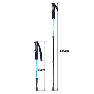 "Fashion Multicolor Adjustable AntiShock Trekking Hiking Walking Stick Pole 3-section 66cm-135cm  26 "" to 53 "" with Dropshipping 1 pc"
