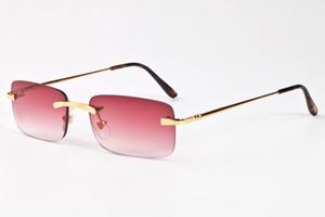 2020 populäre neue Art und Weise Sport-Sonnenbrille Vintage randlos feine Brillen Beine verschiedene Farben des Spiegelobjektives für Männer Frauen Unisex
