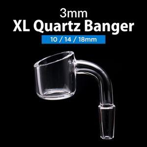 3mm dick 100% männlich weiblich domeless XL Quarz Banger Nagel + Free Glas Carb Cap Honig Eimer Quarz Nägel Keramik Nagel Titan Nägel
