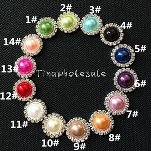 15mm blanc irovy dos plat en gros strass perle embellissement bouton pour carte d'invitation de mariage de bricolage, accessoire de cheveux de bébé 100pcs / lot