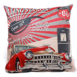 Al por mayor a estrenar 45 * 45cm Micro-velboa Vintage funda de almohada Throw Home Bedroom Living Room producto de la oficina
