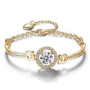 النساء حجر الراين الماس سوار سلاسل الأزياء سحر قلادة أساور مجوهرات عيد الحب هدية لصديقة الساخنة