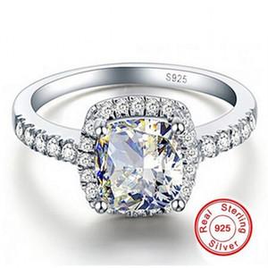 Büyük Promosyon 3ct Gerçek 925 Gümüş Yüzük SWA Eleman beyaz SONA Elmas Yüzükler Kadınlar Için Toptan Düğün Nişan Takı Yeni BOYUTU 5-12