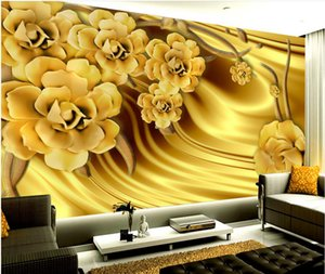 Роскошный золотой пион Шелковый узор фон настенная роспись 3d обои 3D обои 3D обои для ТВ фон