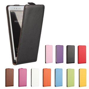 Open Up and Down Custodia Cover per Huawei P6 P7 P8 P9 mate Lite Flip PU Borsa per cellulare in pelle Accessorio Fundas Coque