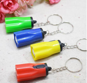 Creative home LED Mini Flashlight Keychain flashlight torch 8g light DHL free shipping