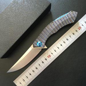 Shirogorov poluchetkiy Sanglier anodisé titane D2 camping chasse en plein air survie tactique pliant couteau de poche portant outils