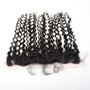 """Chiusura frontale profonda del merletto riccio profondo dei capelli umani della chiusura profonda del merletto 13 * 2 """"di Mongolian Deep Curl con i capelli del bambino"""