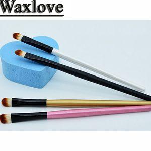 Atacado- Eye Shadow Brush Ferramentas de Maquiagem High-End Fibras Artificiais + Madeira Handle 13 CM Pincéis de Maquiagem Multi-Color Opcional Qualidade Assura