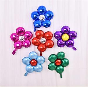 1pcs 50cm 다섯 꽃 알루미늄 호일 풍선 사랑스러운 장난감 결혼식 호의 및 선물 어린이 생일 파티 풍선