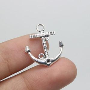 """80pcs / 22 * 18mm tono argento """"Love"""" Anchor pendenti di fascino per la fabbricazione di gioielli fatti a mano amico bracciale"""