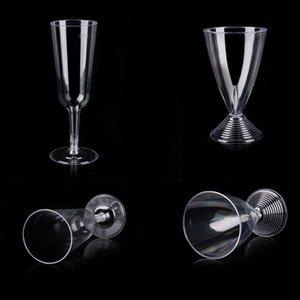 Copos descartáveis de vidro transparentes de vidro do suco de Champagne Copos claros de vidro endurecidos de plástico rígidos não-tóxicos de 150ml 200ml