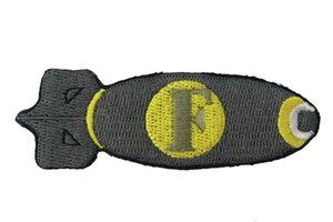 Commercio all'ingrosso Morale F Bomb militare zona ricamato ferro sulla zona per il cappello, Uniforme, camicie Zaini verde G075 di trasporto