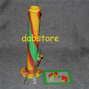 Non Stick Silicone bong with silicone dab pad Round Shape 5ML Dab Wax Silicone Container In Stock Free Shipping