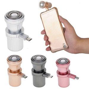 مصغرة usb شاحن الحلاقة الحلاقة الكهربائية السفر المحمولة شفرات اكسسوارات الهاتف الخليوي لفون / الروبوت الرجال هدية ZA2376
