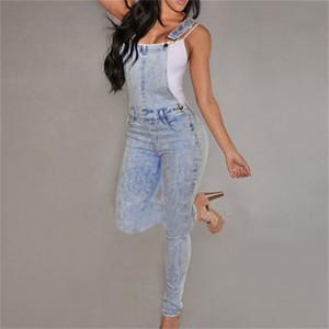 Toptan-Kadınlar Yüksek Belli Kot Kot Tulum Kız Rahat Skinny Sıkı Yıkanmış Kot Pantolon nz17