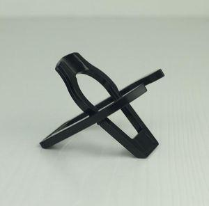 Schwarzes einzelnes Plastikklapprohr-Standplatz-Gestell-Halter-Regal 50 PC / Los