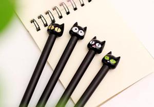DHL 귀여운 만화 모양의 동물 고양이 스타일 젤 잉크 펜 kawaii 학생 용품 학교 용품 젤 펜 재고 있음