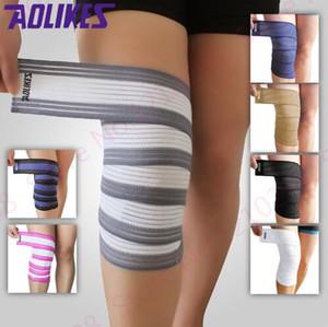 Günstige Bodybuilding Bandage Training Gürtel Wicklung Band Kniepolster Bandage Mix Farbe Bein Kompression Wadenstütze Wraps Unisex