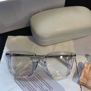Nuevos marcos de anteojos mujeres hombres marcos de anteojos de marca de diseñador gafas de marca marco lentes claros marcos oculos con estuche 2707