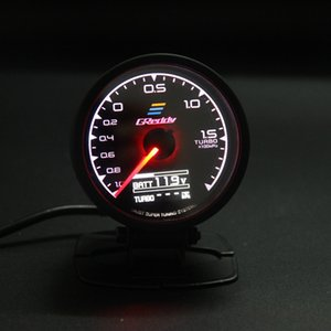 62 mm 2.5 pulgadas 7 colores en 1 Racing GReddy Multi D / A Pantalla digital LCD Turbo Boost Gauge Sensor de medidor automático