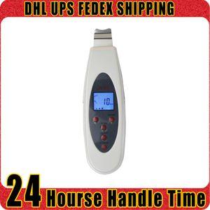 Handheld visage Scrubber Massager ultrasonique LCD Peeling peau éliminer les rides Rajeunissement de la peau Accueil Salon de beauté utiliser la machine