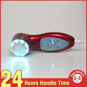 Cilt Gençleştirme Profesyonel Yüz Bakımı Handy LED Foton 3 MHz Ultrason Anti Aging Güzellik Salonu Güzellik Cihazı