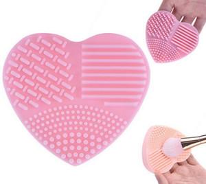 Herzform Reinigen Make-up Pinsel Waschbürste Silikahandschuh Wäscher Bord Kosmetische Reinigungswerkzeuge für Make-up-Pinsel
