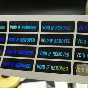 """Adesivi con ologramma laser 500PCS. Non validi se rimossi Etichetta adesiva 30 * 10mm (1.18 """"x 0.39"""")"""
