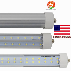 Only Pin LED TUBE Fa8 Tube 72W V-образные и Дуральные ряды Двойные стороны SMD 2835 Светодиодные легкие трубки 8FT LED AC85-265V UL DLC
