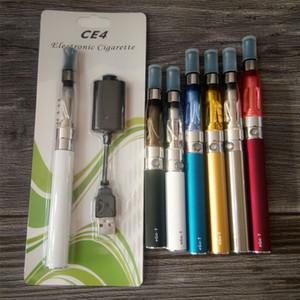 Ego CE4 Blister Kit Cigarrillo electrónico 650mah 900mah 1100mah EGO-T Batería CE4 Atomzier Clearomizer Cargador Paquete de inicio E-cigarrillo DHL