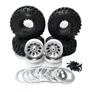 "(4) 1:10 RC Car Rock Crawler 108 Tires 1.9 ""Wheel Beadlock D90 SCX10"
