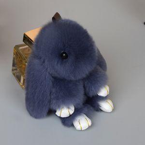 Sevimli Kabarık Bunny Anahtarlık Rex Orijinal Tavşan Kürk Ponpon Anahtarlık Pom Pom Oyuncak Bebek Çantası Çekicilik Araba Anahtar Tutucu ücretsiz hızlı kargo