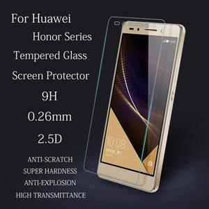 10 pçs / lote 0.26mm 9 h hard 2.5d premium anti shatter vidro temperado para huawei honor 3x 4 4a 4c 4x honor 5 5c 5x6 6x7 filme protetor de tela