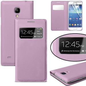 Téléphone portable pour Samsung Galaxy S4 mini-i9190 mignon de luxe en cuir flip ÉTUI Voir la fenêtre Téléphone Coque mobile AccessoriesMobile P