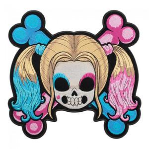 베이비 퀸 소녀 해골 Crossbones 패치, 숙녀가 자수 아이언에 또는 패치에 바느질 3.25 * 3.25 인치 무료 배송